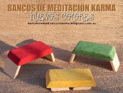 bancos de meditación. Nuevos colores pequeño